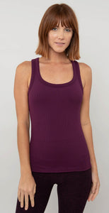 Alo Yoga Rib Support Tank Black Plum