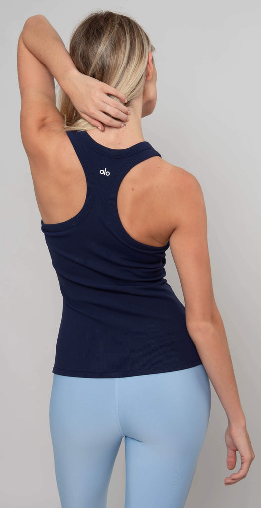 Alo Yoga Rib Support Tank Navy