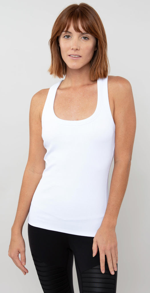 Alo Yoga Rib Support Tank White