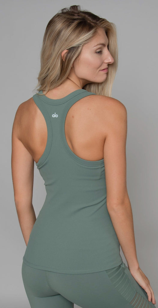 Alo Yoga Rib Support Tank Moss