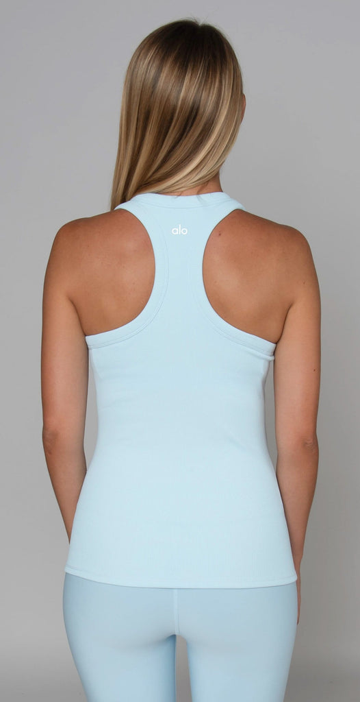 Alo Yoga Rib Support Tank Powder Blue