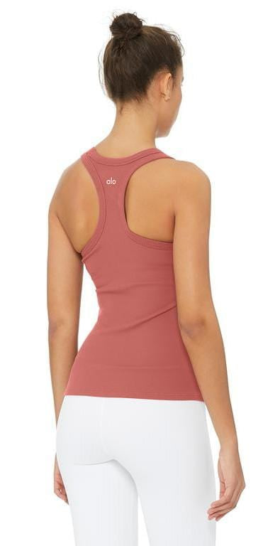 Alo Yoga Rib Support Tank Rosewood