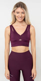 Alo Yoga United Long Bra Black Plum