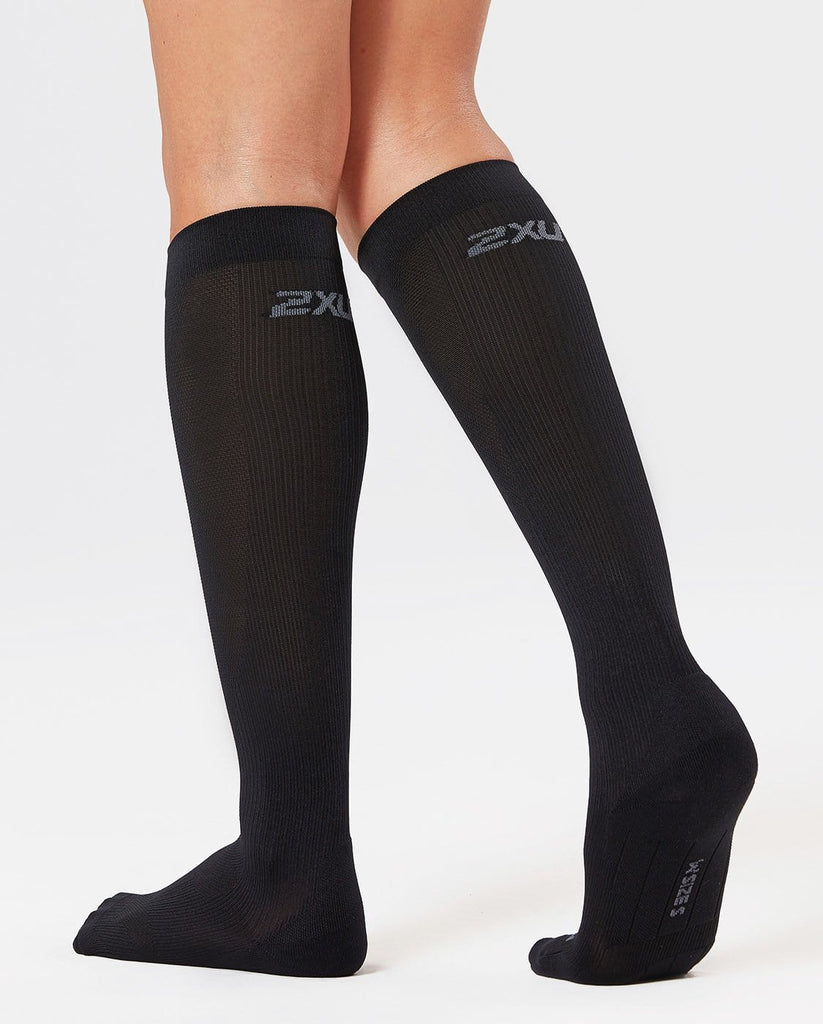 2XU Compression Perf Run Socks Black
