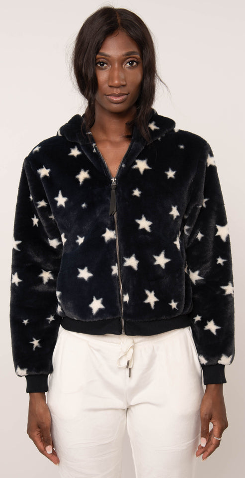 Z Supply London Star Jacket Black