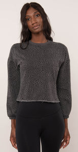 Z Supply Cruise Stardust Sweatshirt Charcoal