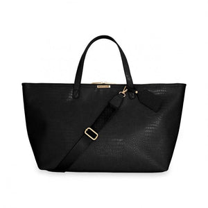Katie Loxton Celine Faux Croc Travel Bag Black