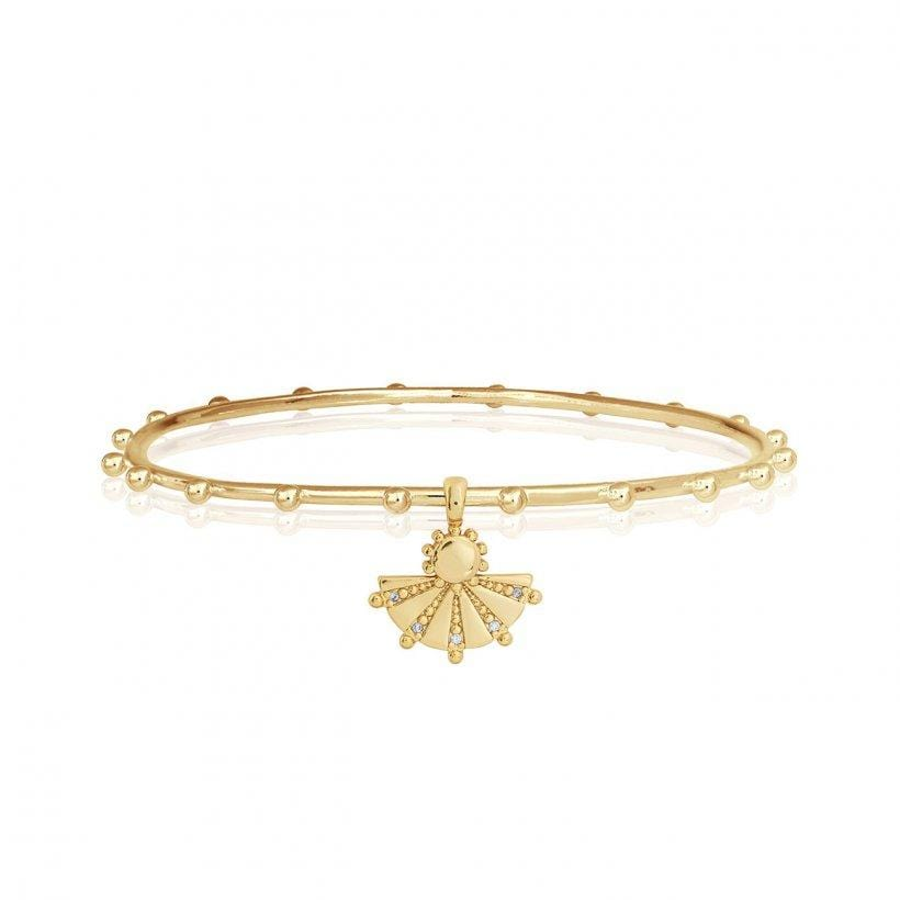 Katie Loxton Mayan Charm Bangle Gold