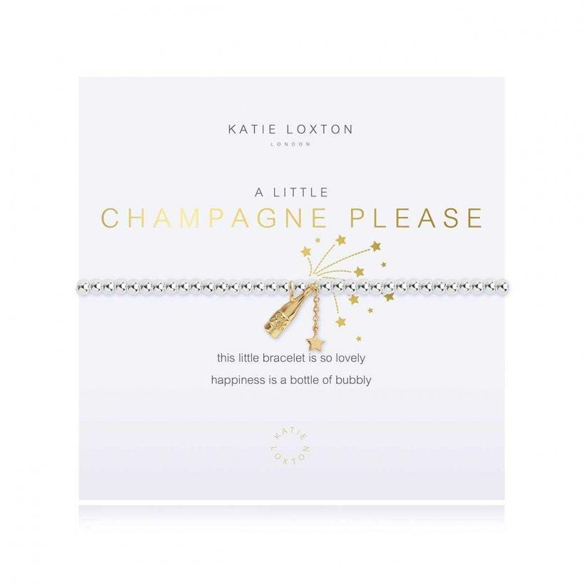 Katie Loxton A little CHAMPAGNE PLEASE bracelet
