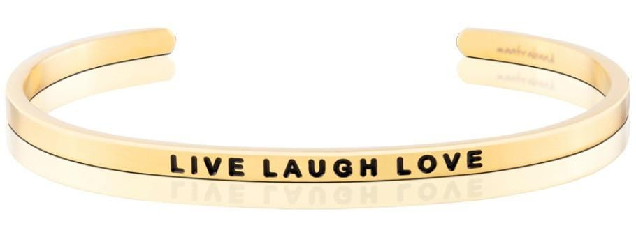 Live Laugh Love Mantraband Gold