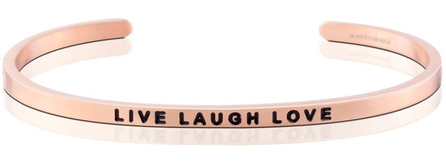 Live Laugh Love Mantraband Rose Gold