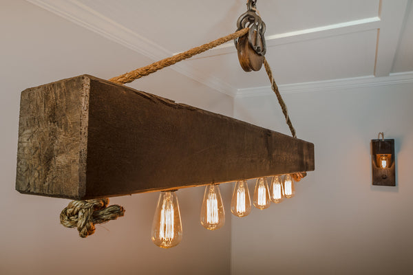 Quot The Rustic Quot 5 Foot Beam Chandelier Handcraftedlighting