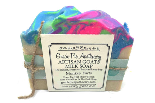 Monkey Farts Glow In the Dark Goats Milk Soap - Just for Kids!