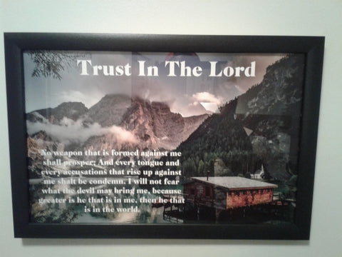 Trust In The Lord   11x17  Wall Picture