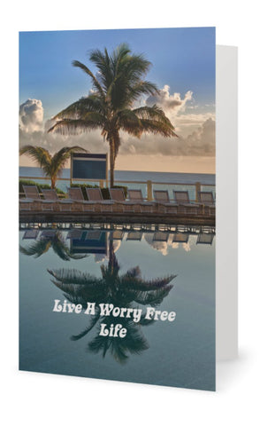 Live A Worry Free Life Instant Digital Download