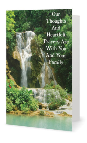 Our Thoughts And Heartfelt Prayers Instant Digital Download