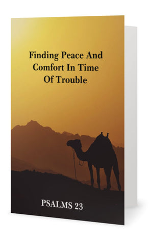 Finding Peace And Comfort In Time Of Trouble ( Psalms 23 ) Instant Digital Download