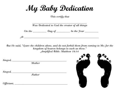 My Baby Dedication 2 Instant Digital Download