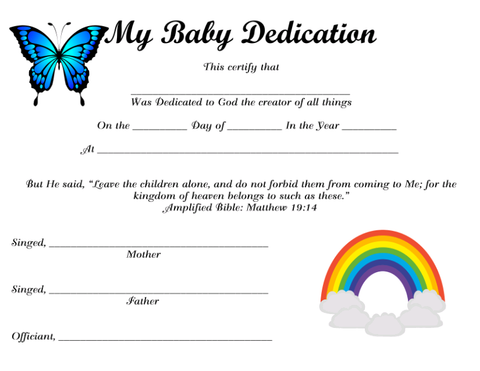 My Baby Dedication 3 Instant Digital Download