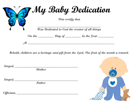 My Baby Dedication 5 Instant Digital Download