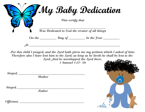 My Baby Dedication 9 Instant Digital Download