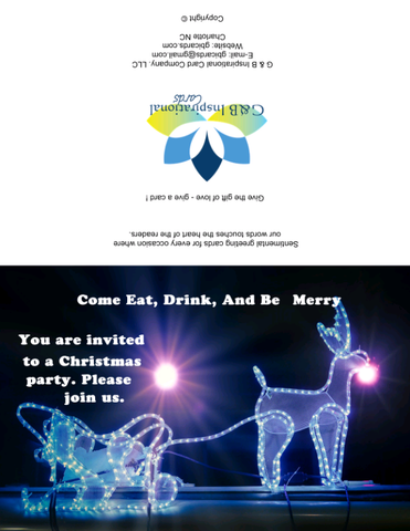 Christmas Party Invitation 1 Instant Digital Download