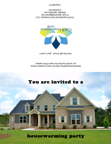 Housewarming Party Invitation 2 Instant Digital Download