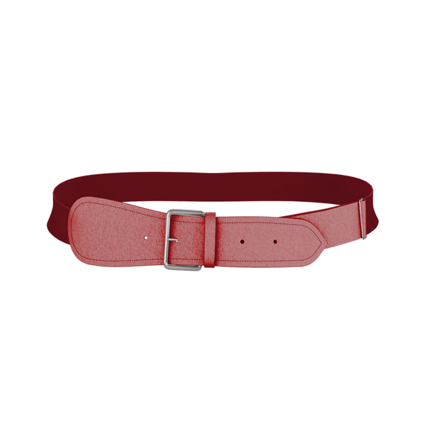 3BBY- NATIONALS YOUTH Red BASEBALL BELT 1.5 WIDTH