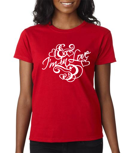 2000L- Valentine Red Ladies In Love Tee