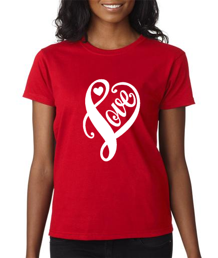2000L- Valentine Red Ladies Love Tee