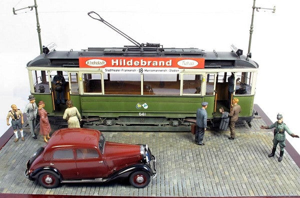 German Tramcar 641 1:35 Scale Model Diorama