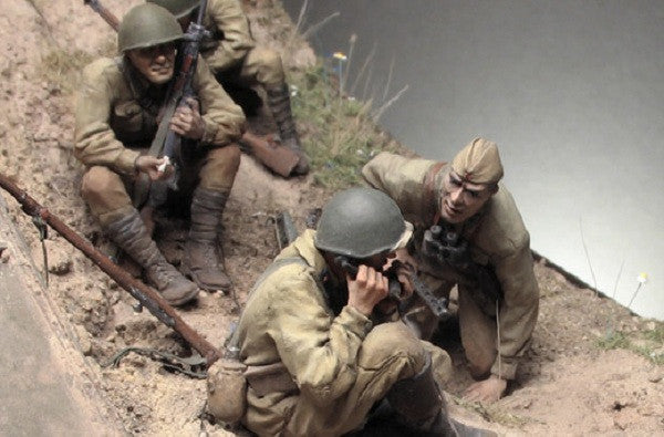 Gully in Don Steppe - 1:35 scale WWII diorama