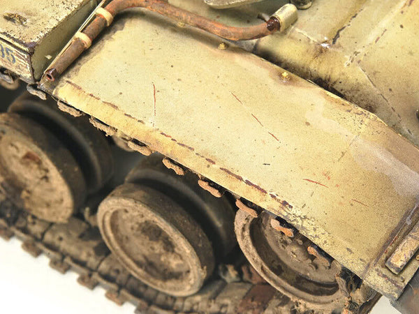 Weathering Effects on Scale Model Tanks AFVs Scratches