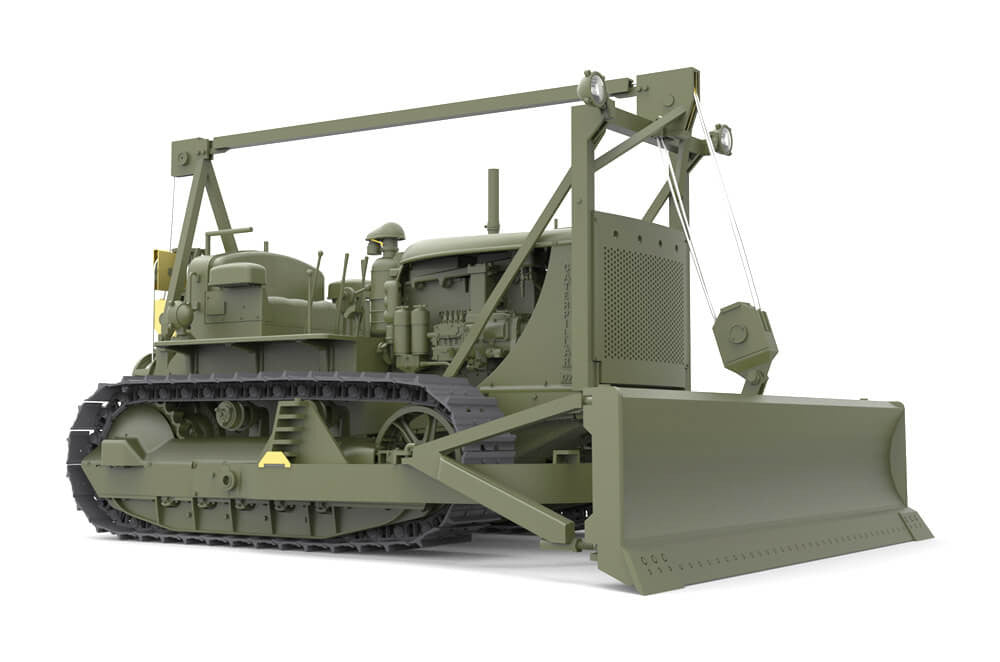 Miniart 1:35 - US Tractor D7 with Angled Dozer Blade