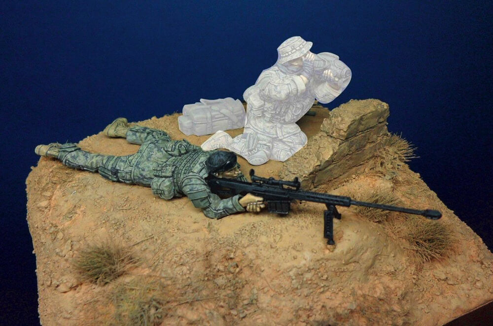Division Miniatures 1:35 Resin Figure - Modern US Sniper