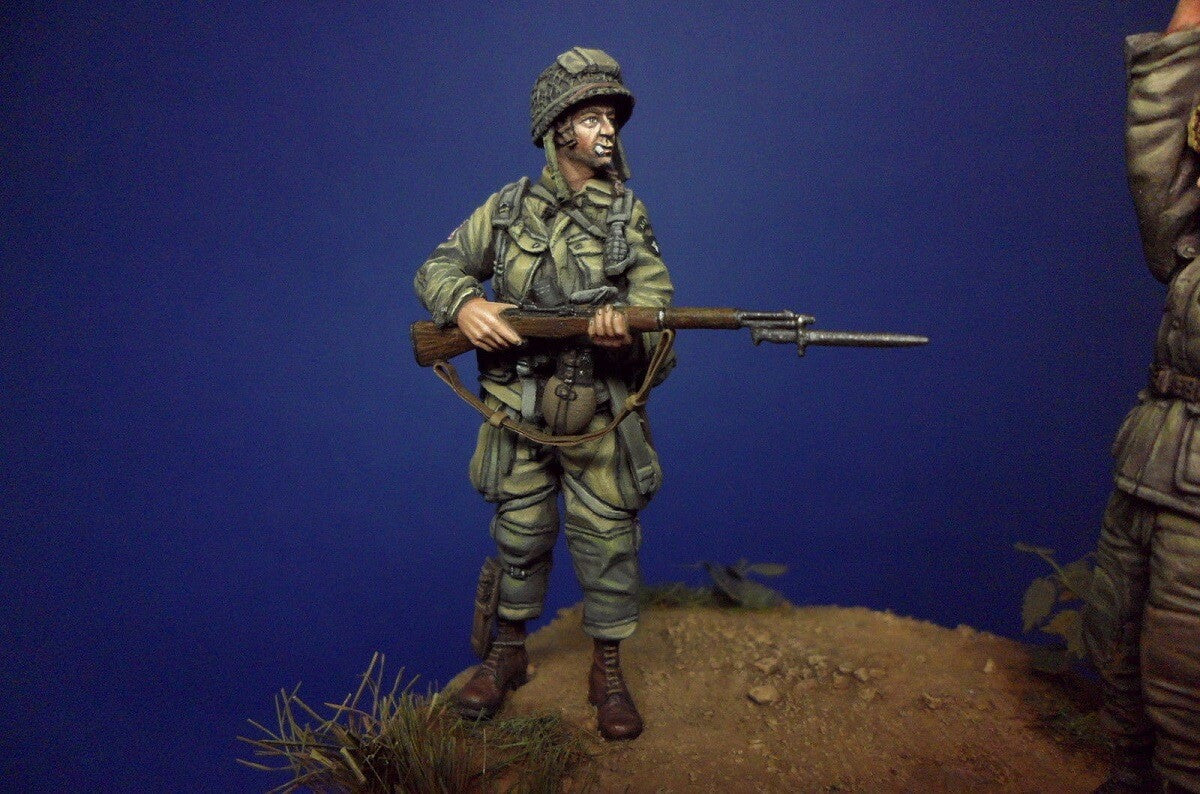 Division Miniatures 1 35 Resin Figure U S 101st Airborne Normandy Panzer Models