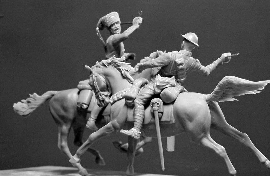 Master Box 1:35 - British and German Cavalrymen WWI Era - Panzer Models
