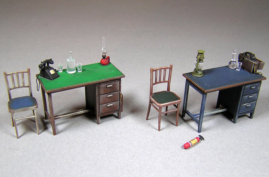 ... 1/35 Scale Miniart WWII Office Furniture And Accessories ...