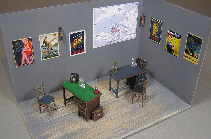 Miniart 1//35 Office Furniture and Accessories # 35564