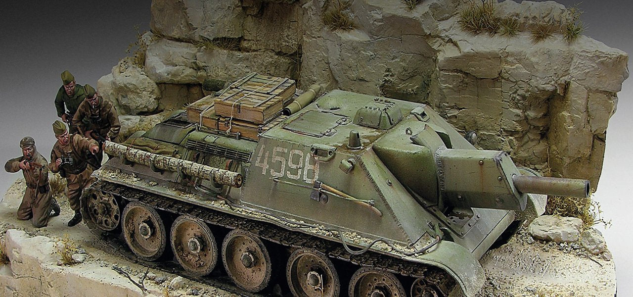 Panther and Kettenkrad Village Diorama 1:35 WWII