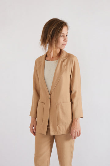 LUN JACKET in lyocell linen