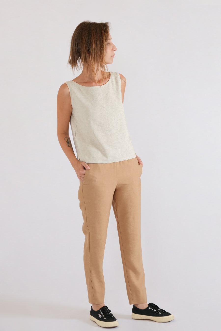 LUN PANTS in lyocell linen