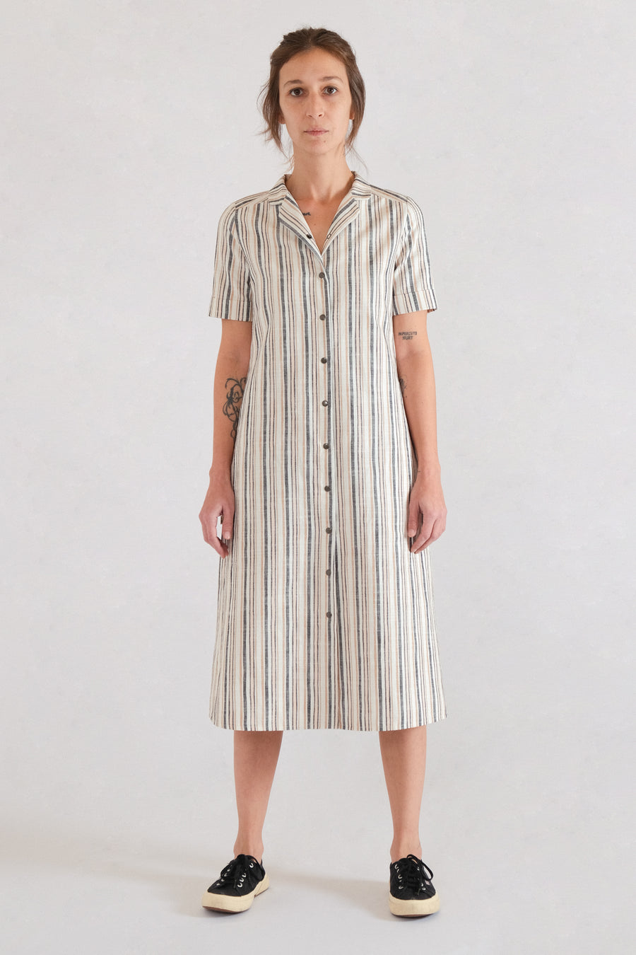LUN SHIRTDRESS in linen
