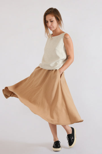 LUN SKIRT in lyocell linen