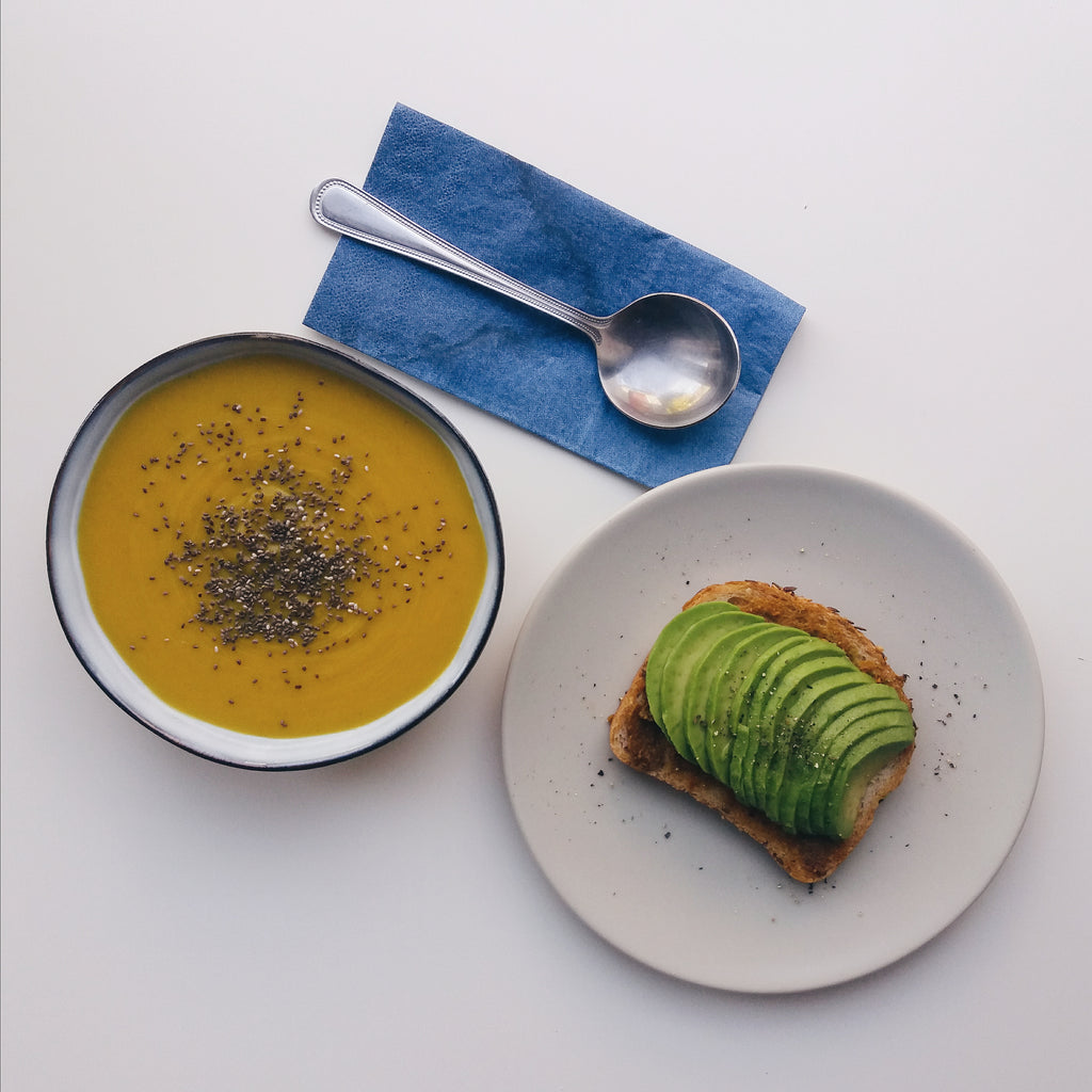 Spiced Butternut Squash and Carrot Soup