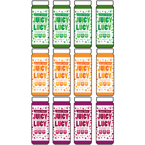 12 Cold-pressed Juice - Assorted Box 200ml