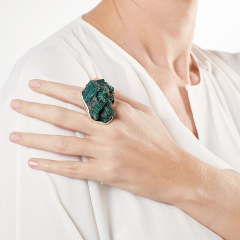 Ring - 925.Kt.Silver with Mineral Ring Malachite