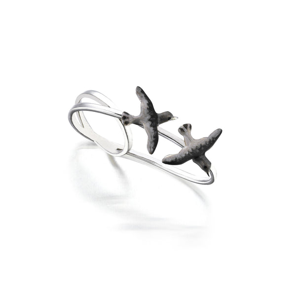 Seagull Istanbul Double Ring - 925 kt. Silver with Enamel
