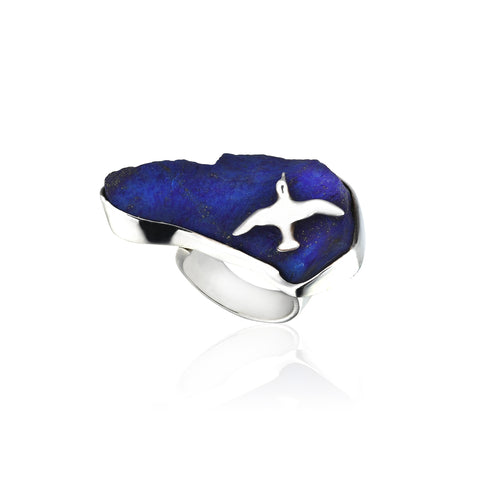 Seagull Istanbul Stone Ring - 925 kt. Silver with Lapis
