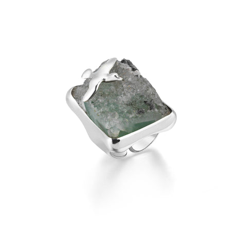 Seagull Istanbul Stone Ring - 925 kt. Silver with Aventurine